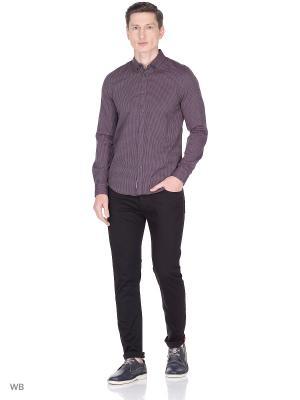 Рубашка Sisley. Цвет: серый, бордовый