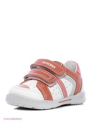 Ботинки Котофей. Цвет: коралловый