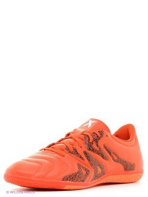 Бутсы X 15.3 In Leather adidas. Цвет: оранжевый, черный