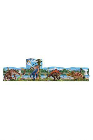 Пазл Динозавры MELISSA&DOUG. Цвет: голубой, зеленый