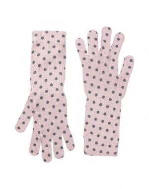 Перчатки GEORGE J. LOVE. Цвет: розовый