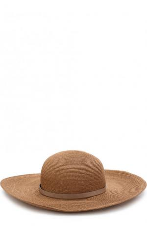Шляпа с декоративным ремешком Inverni. Цвет: светло-коричневый