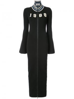 Длинное платье-свитер на молнии Fenty X Puma. Цвет: чёрный