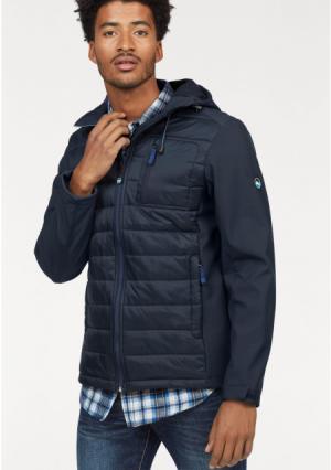 Куртка POLARINO. Цвет: темно-синий, черный