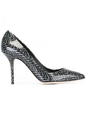 Туфли в елочку Dolce & Gabbana. Цвет: чёрный