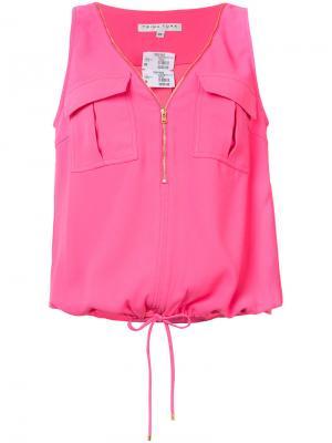 Блуза с декоративной молнией Trina Turk. Цвет: розовый и фиолетовый