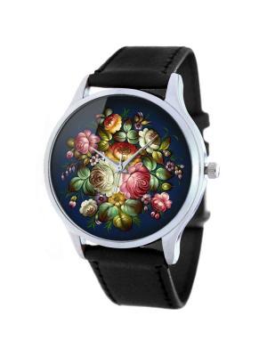 Дизайнерские часы Фольк Узор Tina Bolotina. Цвет: черный, желтый, зеленый, красный