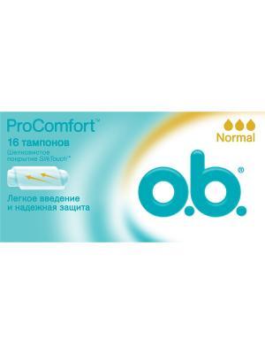Тампоны ProComfort нормал 16шт o.b.. Цвет: белый