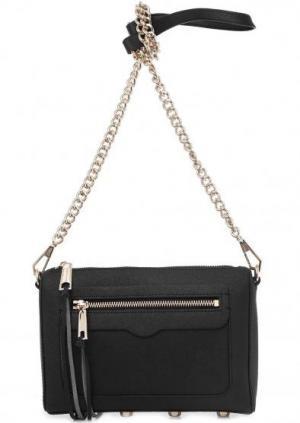 Маленькая кожаная сумка черного цвета Rebecca Minkoff. Цвет: черный