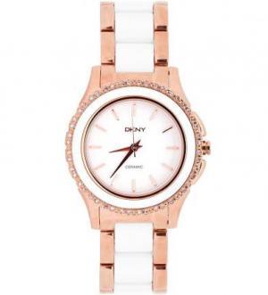 Часы с браслетом из металла и керамики DKNY