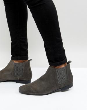 River Island Серые замшевые ботинки челси. Цвет: серый