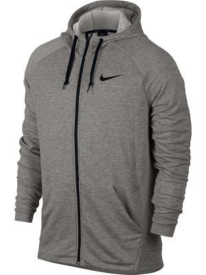 Толстовка M NK DRY HOODIE FZ FLEECE Nike. Цвет: серый