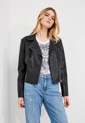 Куртка кожаная Liu Jo Jeans. Цвет: черный