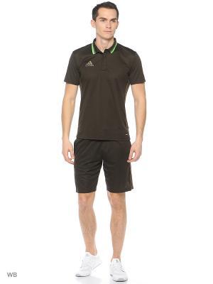 Спортивные шорты (трикотаж) Adidas. Цвет: коричневый