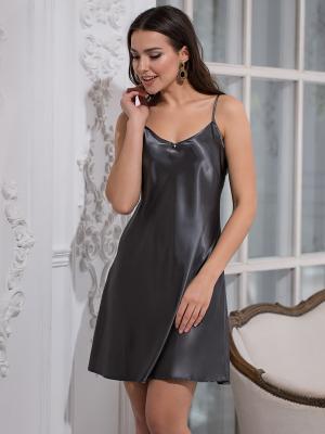 Ночная сорочка MIA-MELLA. Цвет: антрацитовый