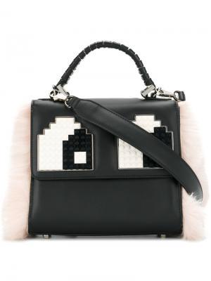 Мини-сумка Alex Les Petits Joueurs. Цвет: чёрный