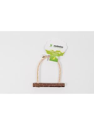 Игрушка для птиц Качели Сизаль Орешник с колок  20см Zoobaloo. Цвет: коричневый