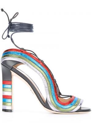 Босоножки Crazy Stripes Paula Cademartori. Цвет: многоцветный