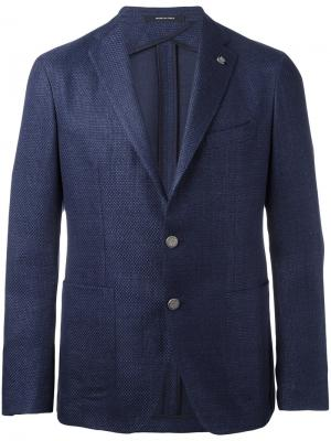 Single breasted jacket Tagliatore. Цвет: синий