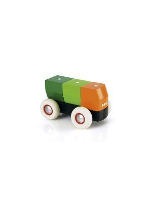 Грузовичок-конструктор деревянный на магнитах,4 детали BRIO. Цвет: белый
