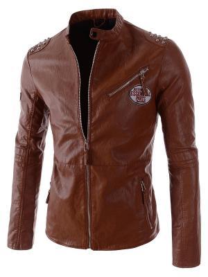 Куртка VipDressCode. Цвет: коричневый