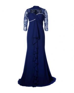 Длинное платье MUSANI COUTURE. Цвет: темно-синий
