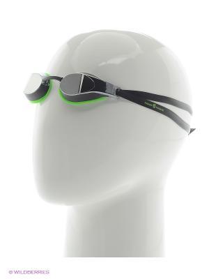 Стартовые очки X-LOOK Mirror Mad Wave. Цвет: зеленый