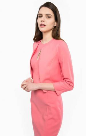 Короткий розовый жакет Kocca. Цвет: розовый