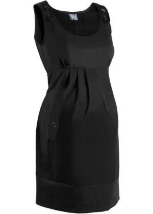 Деловая мода для беременных: платье в клетку (черный) bonprix. Цвет: черный