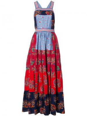 Лоскутное платье Ulla Johnson. Цвет: многоцветный