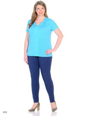 Блузка Modis. Цвет: голубой, бирюзовый