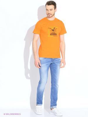 Футболка мужская Резвость - норма жизни оранжевая Экспедиция. Цвет: оранжевый