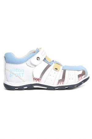 Туфли открытые дошкольные MILTON. Цвет: голубой