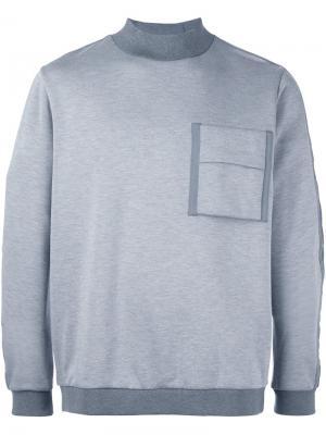 Толстовка с карманом Oamc. Цвет: серый
