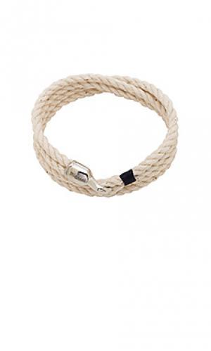 Веревочный браслет trice Miansai. Цвет: ivory