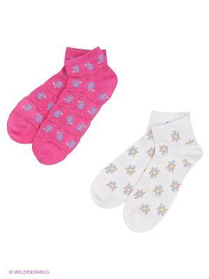 Носки 2 пары Master Socks. Цвет: розовый, белый, голубой