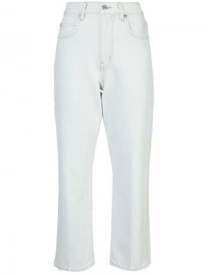 Прямые укороченные джинсы PSWL Proenza Schouler. Цвет: телесный