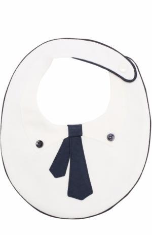 Хлопковый нагрудник с декором Aletta. Цвет: белый