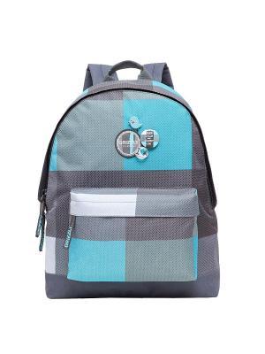 Рюкзак Grizzly. Цвет: серый, голубой