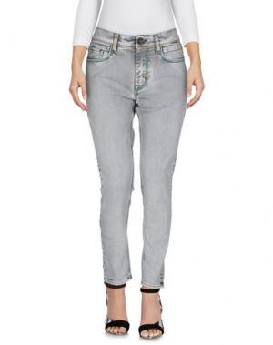 Джинсовые брюки MELTIN POT. Цвет: светло-серый