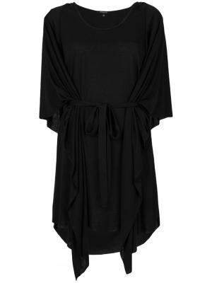 Платье с поясом Unconditional. Цвет: чёрный