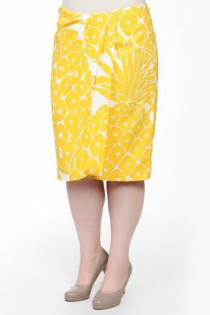 Юбка Escada. Цвет: желто-белый