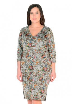 Платье XLady. Цвет: разноцветный