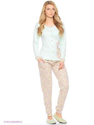 Женская пижама NICOLETTA. Цвет: бирюзовый
