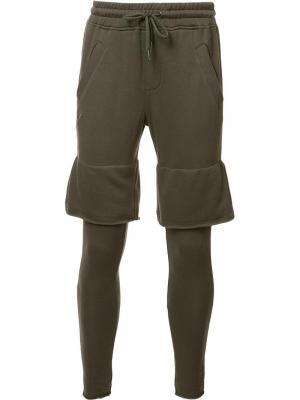 Многослойные спортивные брюки Publish. Цвет: серый