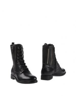 Полусапоги и высокие ботинки SPAZIOMODA. Цвет: черный