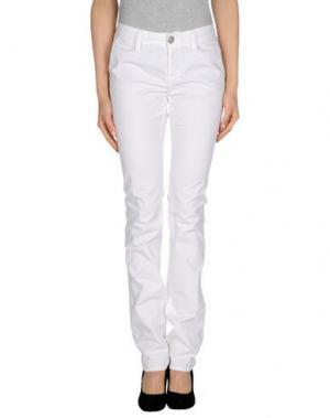 Повседневные брюки CHIRIBIRI. Цвет: белый