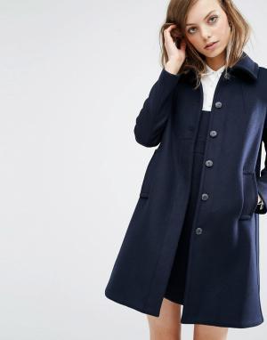 BA&SH Пальто-бушлат Wish. Цвет: темно-синий