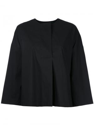Wide sleeve collarless blouse Enföld. Цвет: чёрный