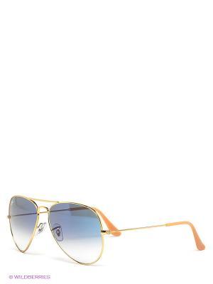 Очки солнцезащитные AVIATOR LARGE METAL Ray Ban. Цвет: синий, золотистый